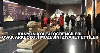 Kanyon Koleji Öğrencileri Uşak Arkeoloji Müzesini Ziyaret Ettiler