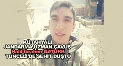 Kütahyalı Jandarma Uzman Çavuş Tunceli'de Şehit Düştü