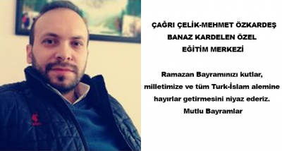 Ramazan Bayramınızı kutlar, milletimize ve tüm Turk-İslam alemine hayırlar getirmesini niyaz ederiz. Mutlu Bayramlar
