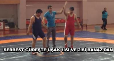 Serbest Güreşte Uşak 1.Si Ve 2.Si Banaz'dan