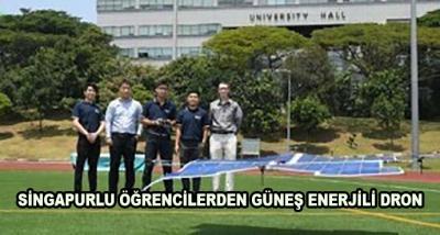 Singapurlu Öğrencilerden Güneş Enerjili Dron