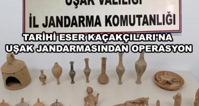 Tarihi Eser Kaçakçıları'na Uşak Jandarmasından Operasyon