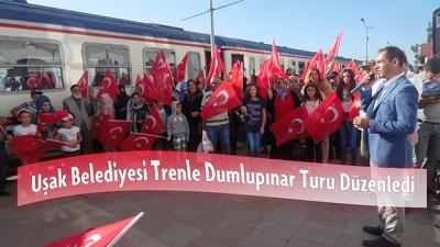 Uşak Belediyesi Trenle Dumlupınar Turu Düzenledi