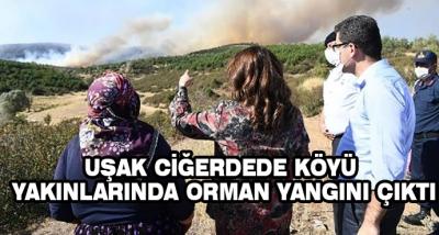 Uşak Ciğerdede Köyü Yakınlarında Orman Yangını Çıktı