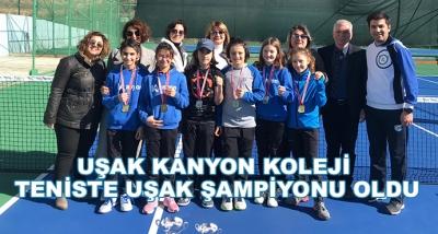 Uşak Kanyon Koleji Teniste Uşak Şampiyonu Oldu