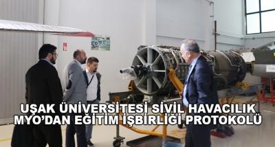 Uşak Üniversitesi Sivil Havacılık Myo'dan Eğitim İşbirliği Protokolü