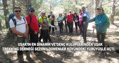 Uşak'ın En Dinamik Ve Genç Kulüplerinden Uşak Trekking Derneği Sezonu Dümenler Köyündeki Yürüyüşle Açtı.