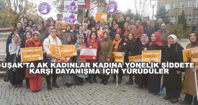 Uşak'ta Ak Kadınlar Kadına Yönelik Şiddete Karşı Dayanışma İçin Yürüdüler