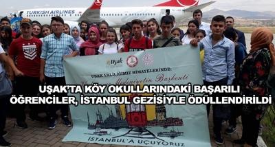 Uşak'ta Köy Okullarındaki Başarılı Öğrenciler, İstanbul Gezisiyle Ödüllendirildi