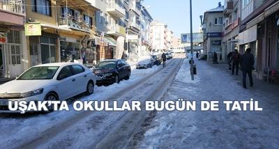 Uşak'ta Okullar Bugün De Tatil