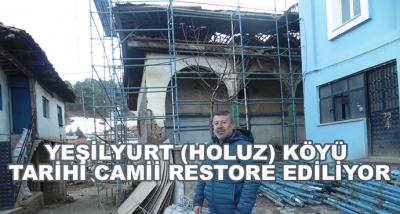 Banaz Yeşilyurt (Holuz) Köyü Tarihi Camii Restore Ediliyor